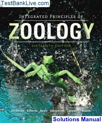 Integrated principles of zoology hickman 15th edition pdf download.