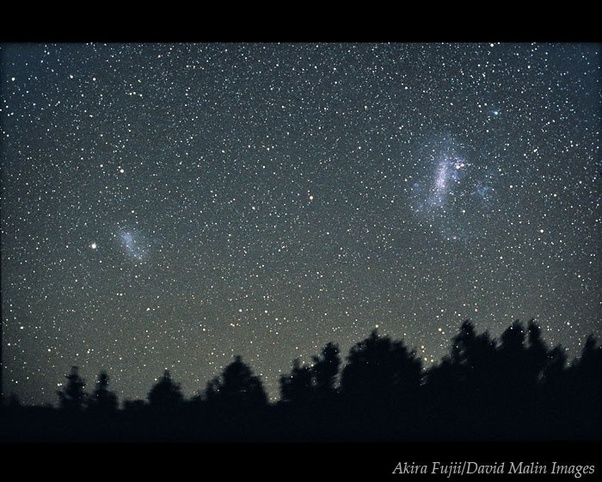 Which of the galaxies can be seen with the naked eye in