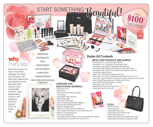What comes in a Mary Kay consultant starter kit?
