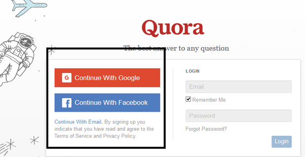 how to sign up for quora quora