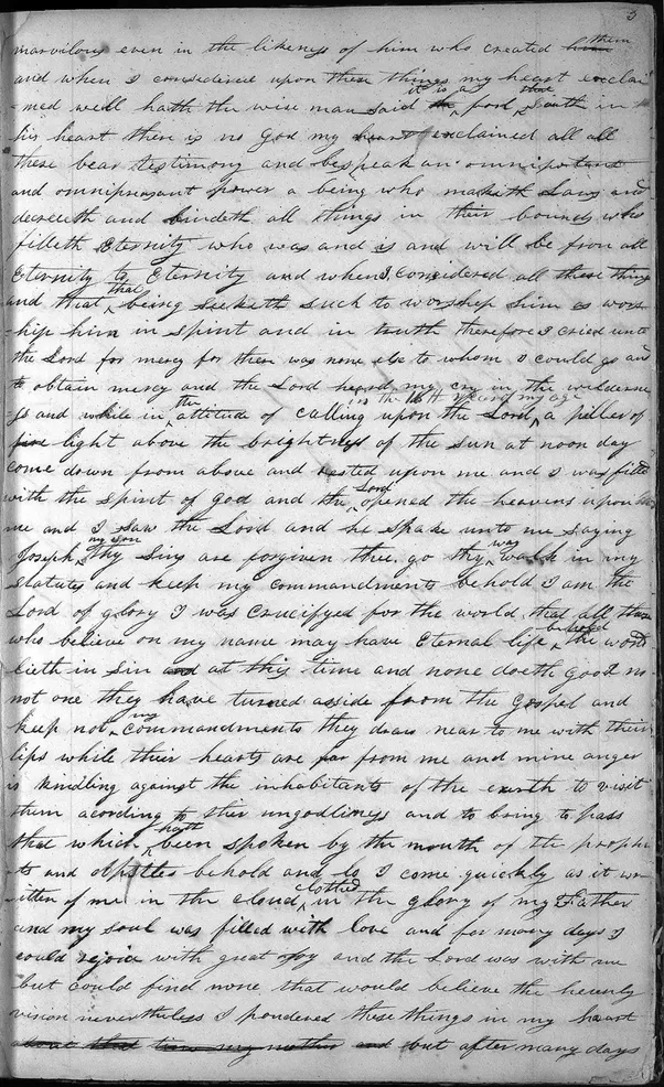 personal writings of joseph smith
