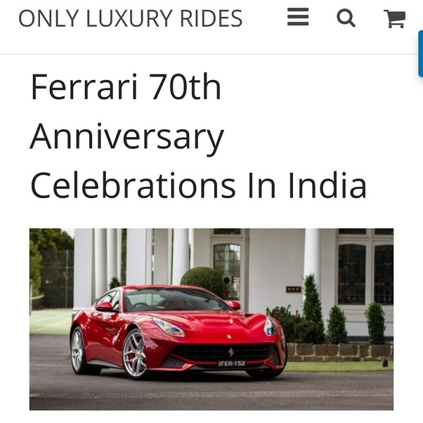 Ferrari 70th Ferrari 70th Anniversary In India