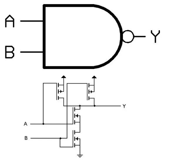 how to connect multiple nand gates