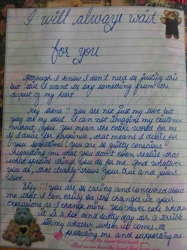 Do Girls Ever Write Love Letters  Quora