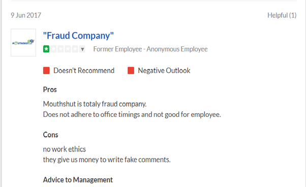They even pay others to post negative reviews. Hear what their own employees  say on Glassdoor