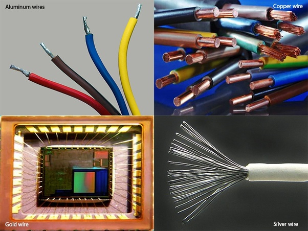 What metals are generally used in electrical wires/cables ... on