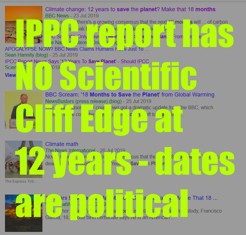 No Scientific Cliff Edge Of 12 Years To Save Planet (or 18