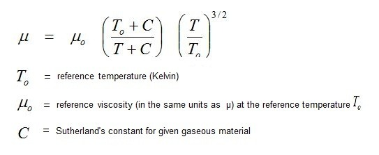 relationship between viscosity and temperature in gases