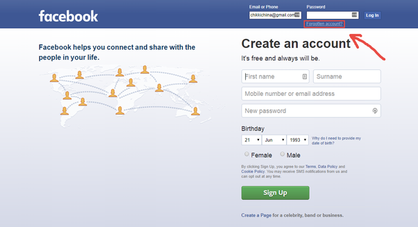 how to login into my facebook account by using only an old password