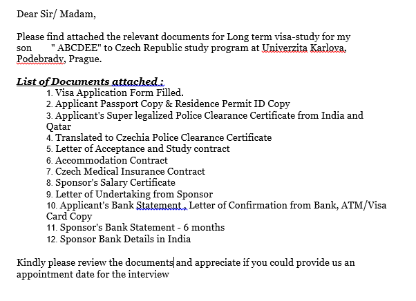 Has Any Indian National Residing In Qatar Applied For A Czech Long Term Visa Quora