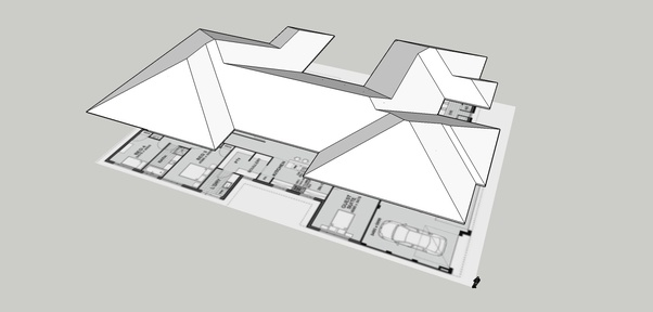 For such a complicated roof plan, how should my roof and roof.