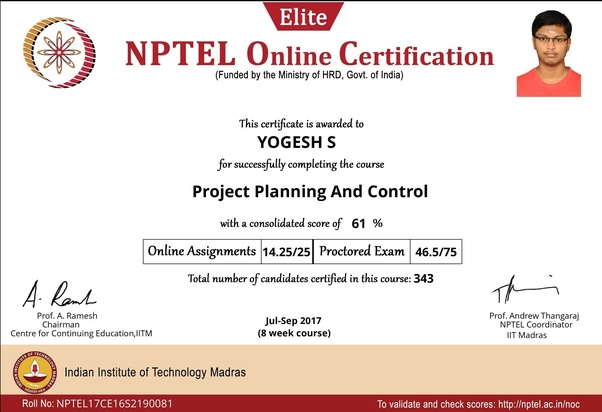 Do certificates from NPTEL courses hold any value? - Quora