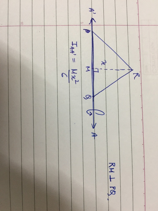 What is the moment of inertia of a triangle? - Quora