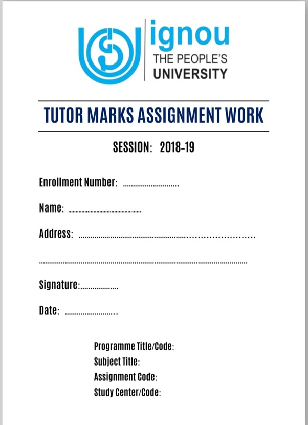 Can You Show The Front Cover And Sample Of Your Ignou