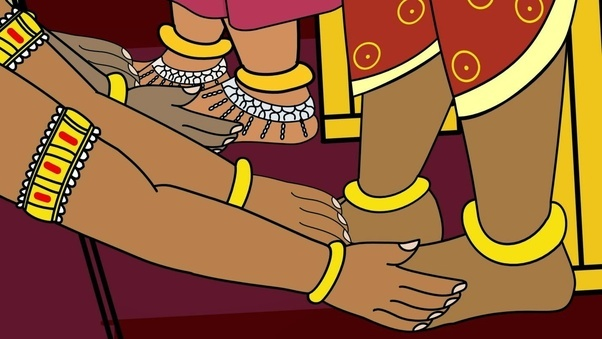 Image result for touching elders feet ancient india