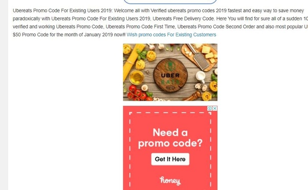 promo code for uber eats canada 2019