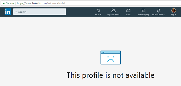 To My Surprise I Could Not See The Detailed Profile It Says This Profile Is Not Available