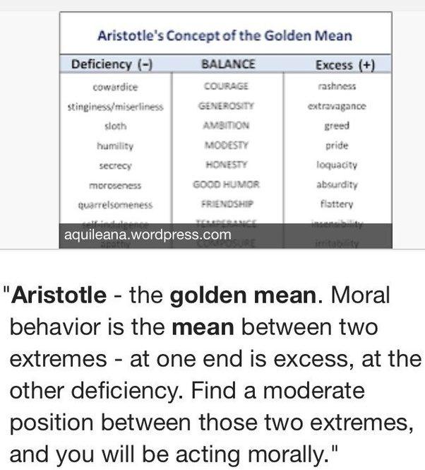 What Is Aristotles Golden Mean Quora