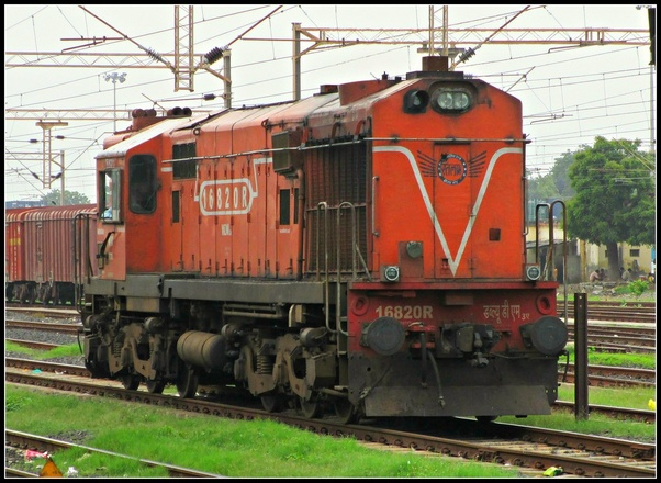 How many litres of diesel does it take for a rail engine to