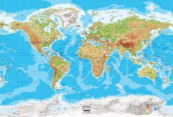 Why are all deserts on the western side of the earth quora see that map thats a physical map of the world on millers cylindrical projection if you observe carefully the deserts on this map gumiabroncs Images
