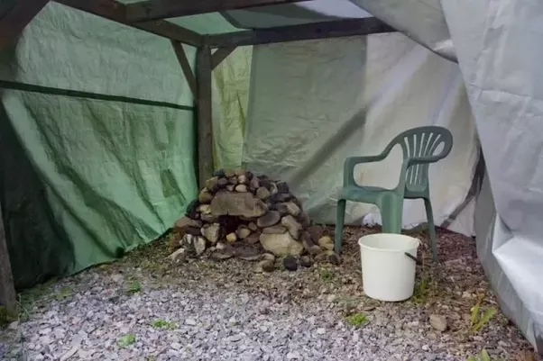 Here is a temporary sauna I built once in my yard. I made some stoves like that for fun. This sauna is really really ugly but it worked very well! & Why are there rocks on sauna heater? - Quora
