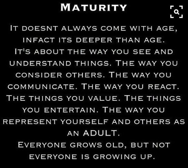 What is mature personality