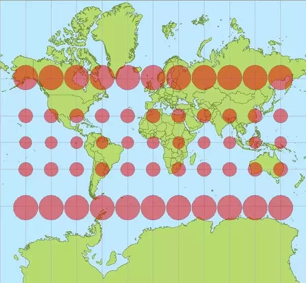 World Map With Correct Proportions.Why Can T We Shrink The Countries On The Mercator Projection To