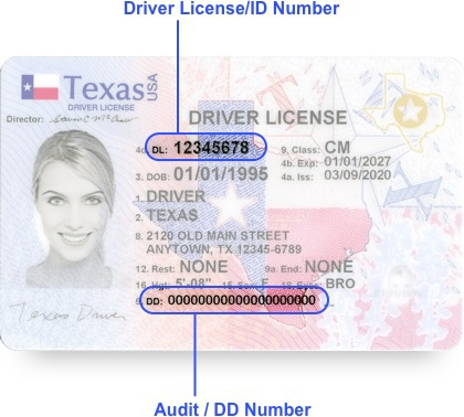 Where Is The Audit Number On A Texas Driver S License Quora