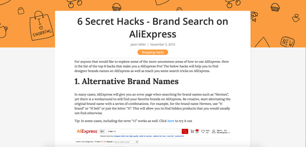 how to sell products from ali express via shopify