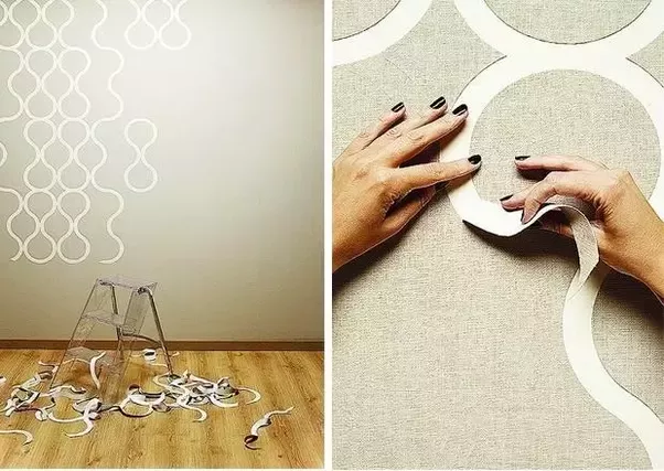 From There You Can Peel Off Sections To Create Your Own Custom Designs And Patterns The Wallpaper