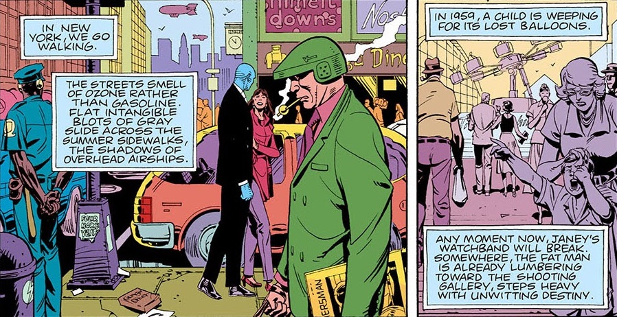 How does the Watchmen graphic novel differ from the movie