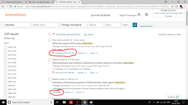 how to download from sciencedirect for free