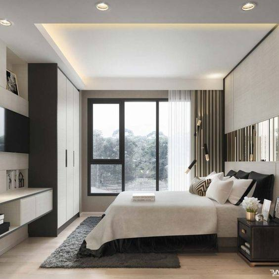 Suggest You To Paint Your Wall Monochrome In Soft And Light Grey Or White That Will Blend Well With Black Furniture Maybe Ll Like Contemporary