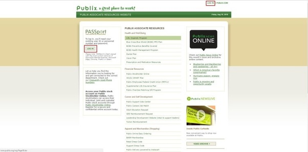 How To Login To Publix Oasis Passport?