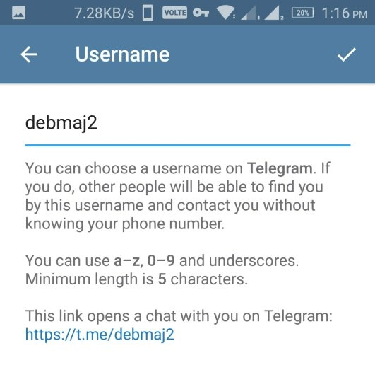 Telegram hide phone number