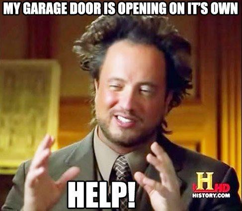 How Can A Garage Door Open By Itself Quora