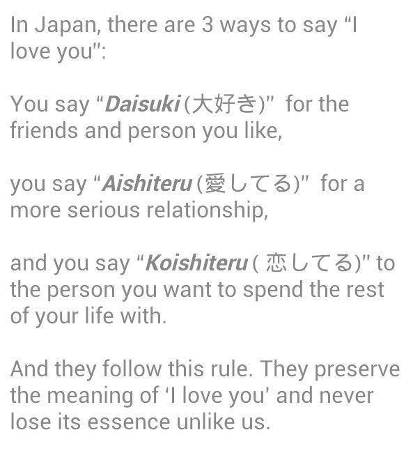 How Does One Say Im In Love With You In Japanese Quora