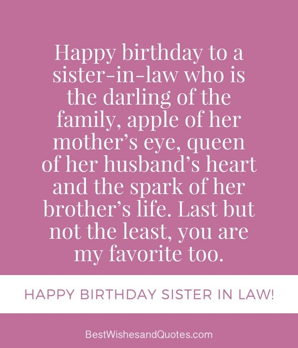 Quotes For My Sister In Law: What Is The Best Birthday Wish Ever?