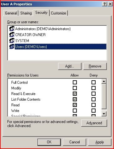 How To Perform The Equivalent Of Chmod On A Windows Server Which