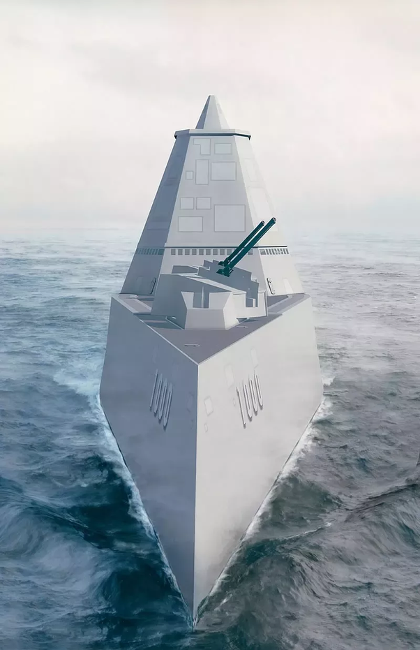 I Assume You Are Referring To The Tumblehome Hull Of The Zumwalt Class.