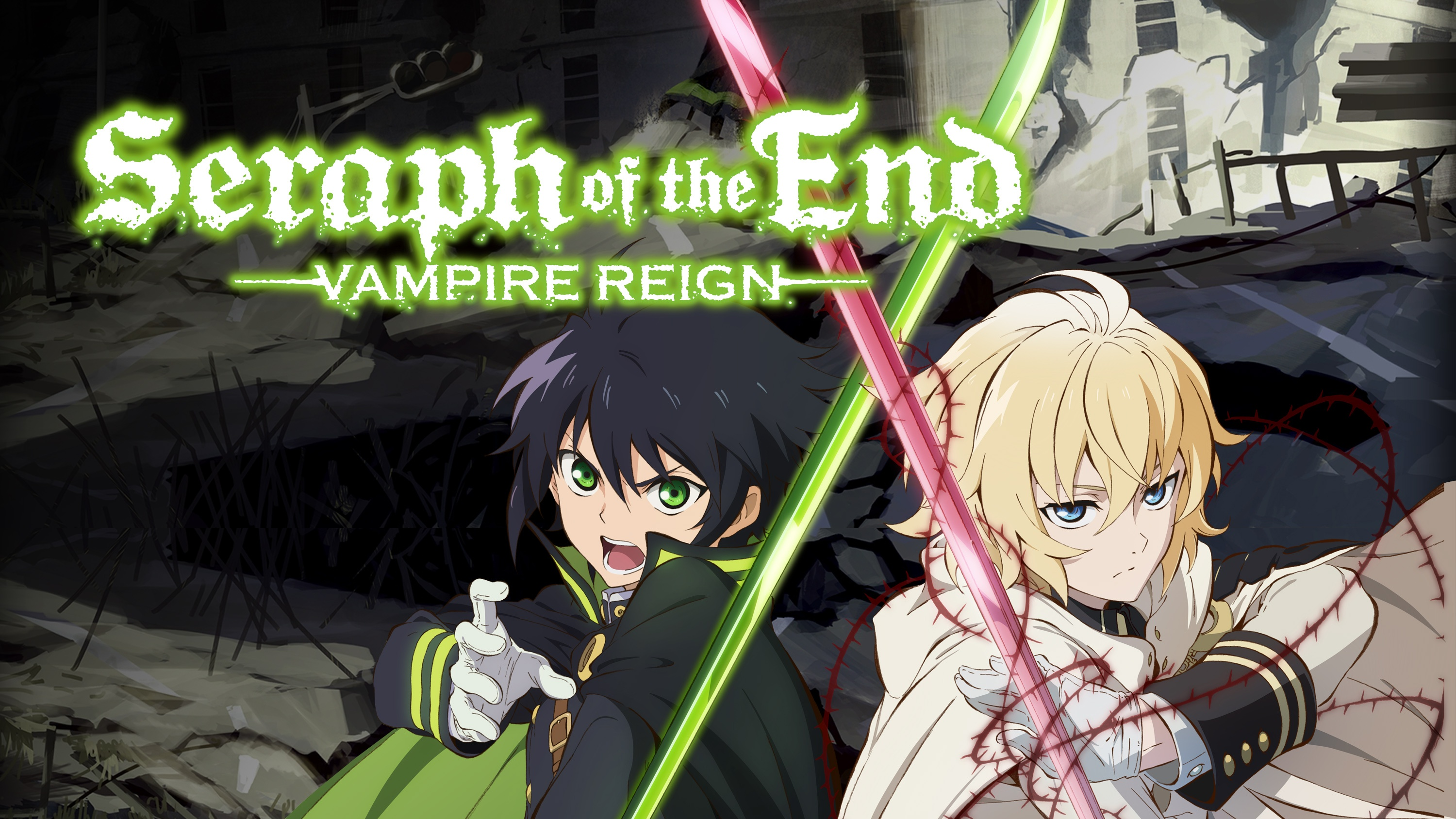 A young man named yūichirō hyakuya joins a vampire extermination unit to avenge the deaths of his orphaned family and reclaim his best friend mikaela