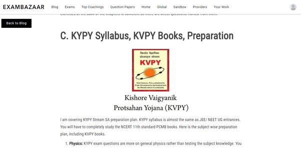 which are the best books for kvpy preparations quora
