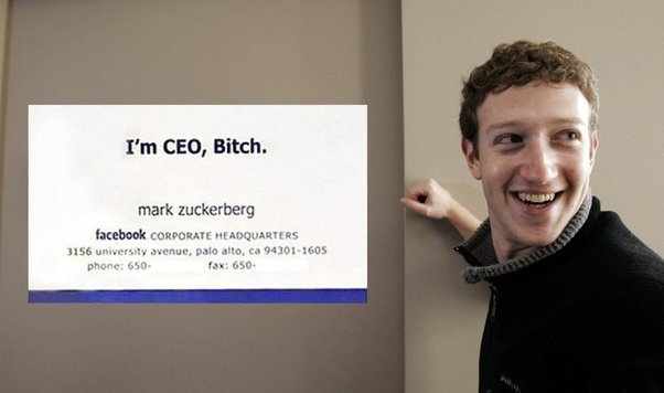 This Time You Re Gonna Hand Them A Business Card That Says I M Ceo S What Want For Parker Later In The Film Zuckerberg