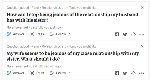 How to avoid being jealous of my sister-in-law - Quora