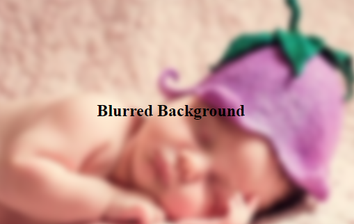 How to blur the background but not the text that sits on top of it