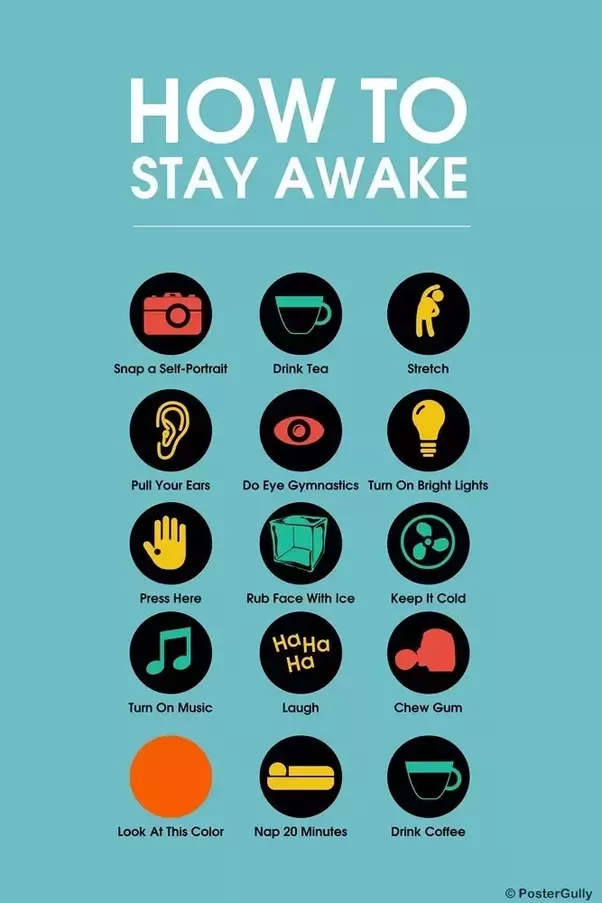 How to stay awake no sleep