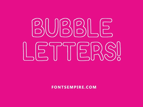What Is The Name Of An Outlined Bubble Font Quora