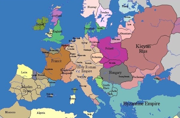 Map Of England 9th Century.9th Century Europe Map
