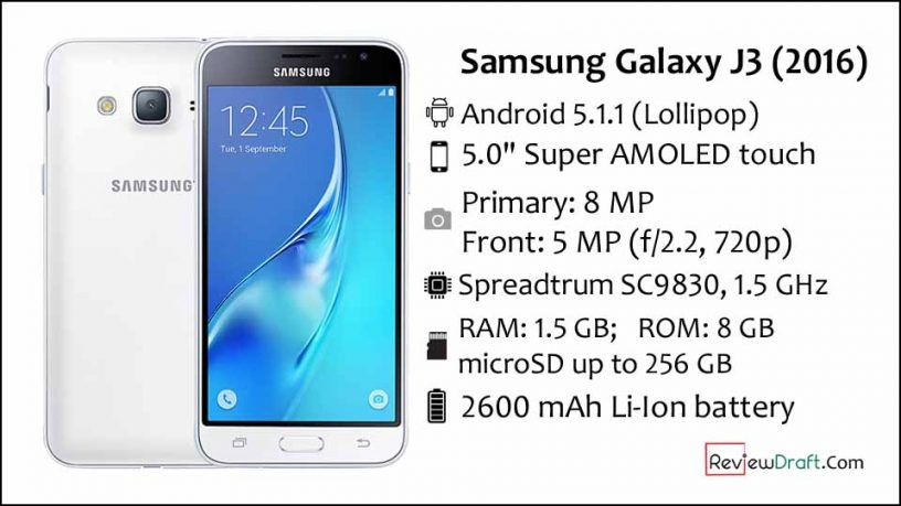 pic credit-Samsung Galaxy J3 2016 Price in Bangladesh, Full Specification
