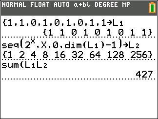 128 in binary